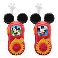 Mickey Mouse Bathroom Set Amazon by Amazon Com Mickey Mouse Walkie Talkies Toys U0026 Games