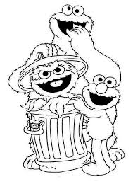 56 Sesame Street Coloring Pages Cartoons Printable