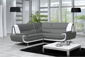 canapé simili cuir gris canapé moderne simili cuir réversible gris noir chocolat