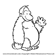 ape clipart black and white OurClipart