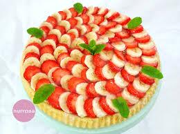 erdbeer bananen kuchen nurrosa