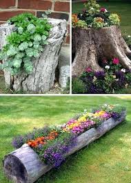 Diy Flower Garden Outstanding Gray Rectangle Rustic Wood Ideas Decorative Flowers