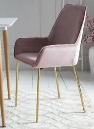 details zu 2 x esszimmerstuhl polsterstuhl samt armlehnen messing stuhlbeine linnea