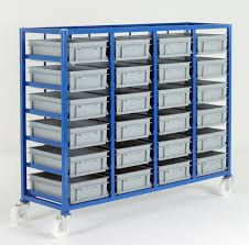 Ref CT226P Small Parts Storage Tray Rack plete with 24 x Euro