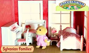 sylvanian families calico critters s bedroom set in the