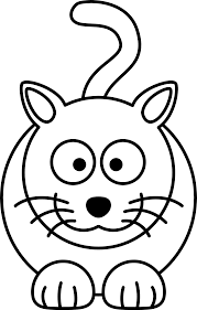 Lemmling Cartoon Cat Black White Line Art Coloring Book Colouring Drawing Px Image
