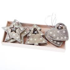 Christmas Tree Toppers Uk by Heaven Sends Set Of 9 Wooden Christmas Tree Decorations Heaven