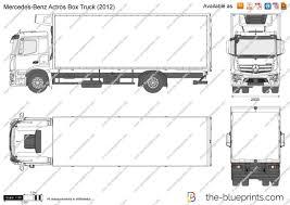 100 Mercedes Box Truck Benz Actros Vector Drawing