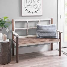 Our Distressed Wooden Windowpane Bench Is The Definition Of Rustic Style