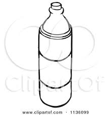 Clipart A Retro Vintage Black And White Water Bottle 2Mopzr Clipart