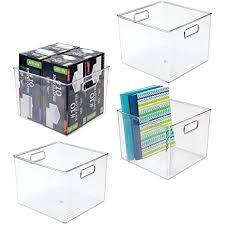 mdesign 4er set aufbewahrungsbox mit integrierten griffen