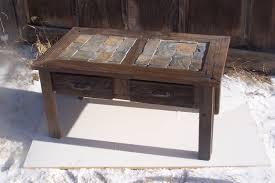 coffee tables slate coffee table tile set top uk garden mid