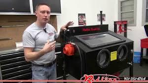 new redline re36dl double light sand blasting blaster cabinet