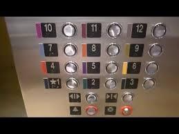 Elevators at the Atlanta Aquarium parking garage in Atlanta GA