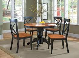 Simple Perfect Small Dining Room Table Nice Decorating Round Wooden Base Black Painted