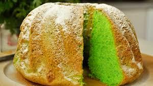 pandan sponge cake basic recipe green cake