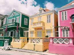 Colorful Houses In Pietermaai Historic District Curacao CaribbeanWanderlust