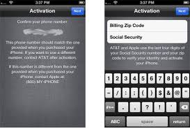 Activate iPhone 6 or 6S with Zip & Social Security Number SSN