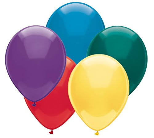 "PartyMate Solid Color Latex Balloons - 12"" Round, 72ct, Assorted Pastel Colors"