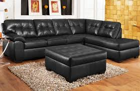Buchannan Faux Leather Corner Sectional Sofa Black by Black Leather Sectional Sofa Roselawnlutheran