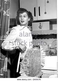 Household Washing Up Woman In Kitchen Daily Dish 1950s