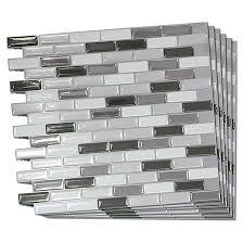 self adhesive wall tile metallik 6 pack rona