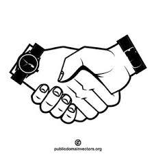 Handshake vector clip art graphics