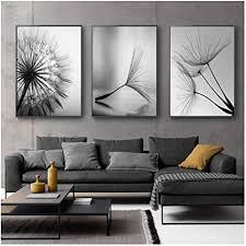 lipengyu druck auf leinwand löwenzahn blume leinwand malerei moderne schwarz weiß kunstdruck bild wohnkultur wohnzimmer abstrakte wand poster 30x40 cm
