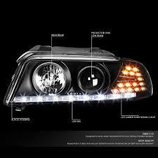 01 audi a4 halogen model led drl signal projector headlights