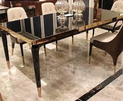 tisch glas designer ess zimmer wohn klassischer tische luxus holz modern italien
