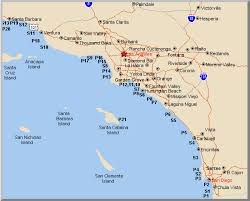Map Of California Pier And Surf Fishing Spots