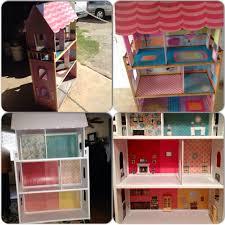Barbie Living Room Furniture Diy by Diy Garage Sale Kidkraft Wooden Dollhouse Makeover Dollhouse