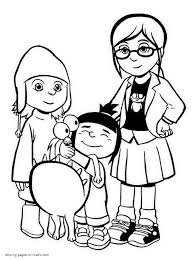 Agnes Margo And Edith Coloring Page