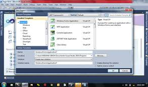 Create New Project In Visual Studio