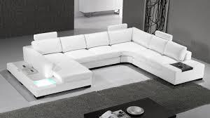 canapé d angle cuir design panoramique fritsch avec lumière