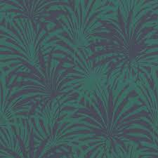 vlies tapete tropen blätter dunkelblau grün rasch 525946