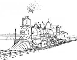 Train And Locomotive Coloring Pages
