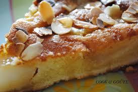 tarte amandine aux poires caramèlisées à la vanille cook and goûte