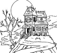 coloriage maison hantée dessin à imprimer sur coloriages info