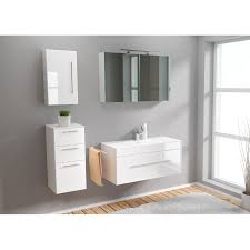 posseik badezimmer set verona 100 cm weiß hochglanz herzomarkt
