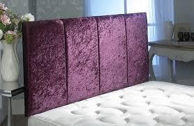 Purple Velvet King Headboard by Crushed Velvet Headboard Super King Home Design Ideas