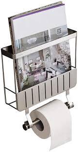 toilettenpapierhalter für wandmontage mit zeitungsständer