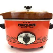 Cookers & Steamers in Brand Rival Type Slow Cooker Color Orange
