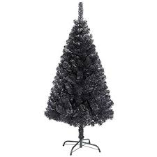 White Flocked Christmas Trees Artificial New 8ft Black Tree Imperial Tips With Metal