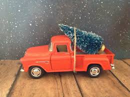 100 1956 Ford Truck F1 Pickup Carrying Christmas Tree Orange Etsy