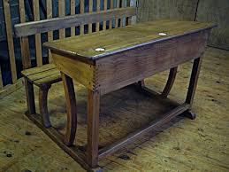 bureau ecolier en bois pupitre d écolier ancien à abattants avec ses deux encriers