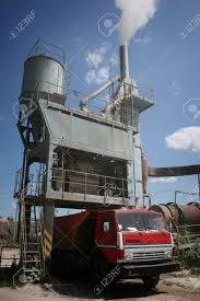 100 Dump Truck Storage Loading At Factory For Asphalt Production In Ukraine