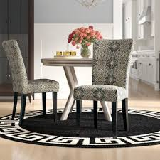 Sture Damask Print Parson Chair Set Of 2