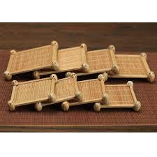 wohnzimmer bambus untersetzer matte für bar küche