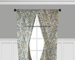 items similar to gray blue yellow curtain panels damask floral